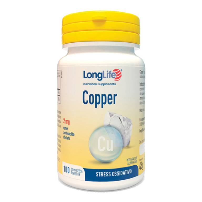 LONGLIFE COPPER 2MG 100CPR